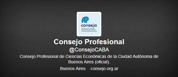 Siga en Twitter al Consejo @ConsejoCABA