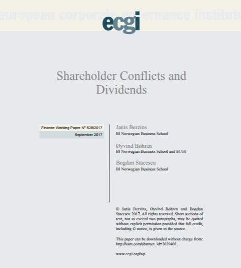 Noruega: Conflictos y dividendos de los accionistas